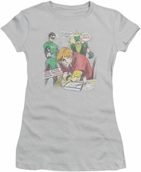 Green Lantern juniors t-shirt Speedy Junkie silver