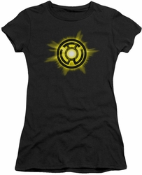 Green Lantern juniors t-shirt Yellow Glow black