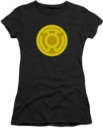 Green Lantern juniors t-shirt Yellow Symbol black