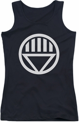 Green Lantern juniors tank top Black Lantern Logo black