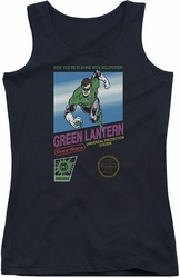 Green Lantern juniors tank top Box Art black