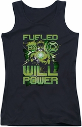 Green Lantern juniors tank top Fueled black