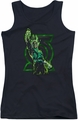 Green Lantern juniors tank top Fully Charged black