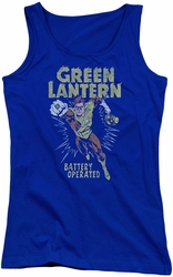 Green Lantern juniors tank top Fully Charged royal
