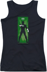 Green Lantern juniors tank top Green Lantern Block black