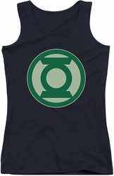 Green Lantern juniors tank top Green Symbol black