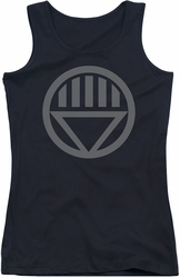Green Lantern juniors tank top Grey Emblem black