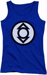 Green Lantern juniors tank top Indigo Tribe royal
