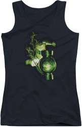 Green Lantern juniors tank top Lantern Light black