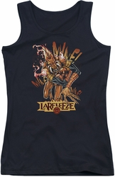 Green Lantern juniors tank top Larfleeze black