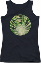 Green Lantern juniors tank top Light Em Up black