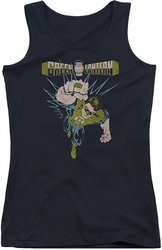 Green Lantern juniors tank top Powerful black