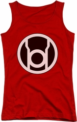 Green Lantern juniors tank top Red Lantern Logo red