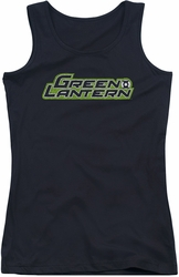 Green Lantern juniors tank top Scribble Title black