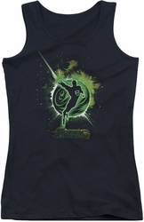 Green Lantern juniors tank top Shadow Lantern black