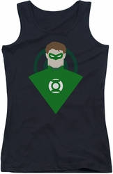 Green Lantern juniors tank top Simple Gl black