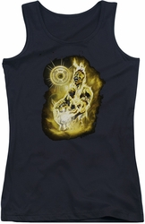 Green Lantern juniors tank top Sinestro Nebula black