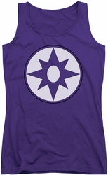 Green Lantern juniors tank top Star Sapphire Logo purple