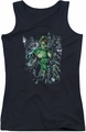 Green Lantern juniors tank top Surrounded By Death black