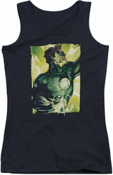 Green Lantern juniors tank top Up Up black