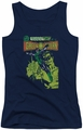Green Lantern juniors tank top Vintage Cover navy