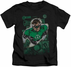 Green Lantern kids t-shirt #1 Distres black