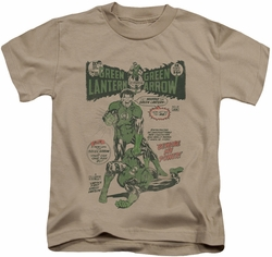 Green Lantern kids t-shirt Beware My Power sand