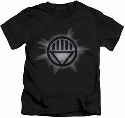 Green Lantern kids t-shirt Black Glow black