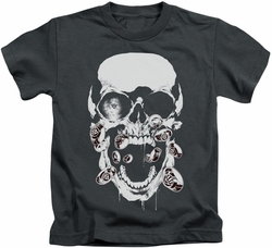 Green Lantern kids t-shirt Black Lantern Skull charcoal