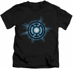 Green Lantern kids t-shirt Blue Glow black