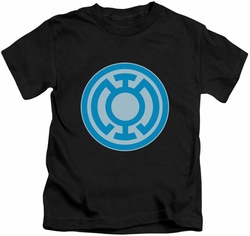 Green Lantern kids t-shirt Blue Symbol black