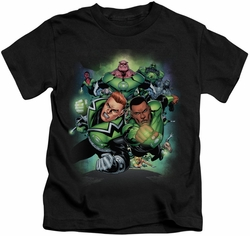 Green Lantern kids t-shirt Corps #1 black