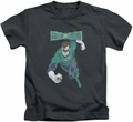 Green Lantern kids t-shirt Desaturated charcoal