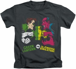 Green Lantern kids t-shirt GL Vs Sinestro charcoal