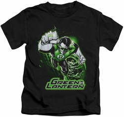 Green Lantern kids t-shirt Green & Gray black