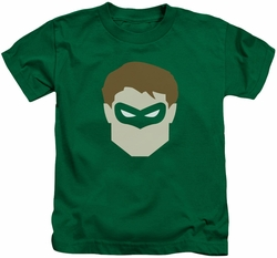 Green Lantern kids t-shirt Head kelly green