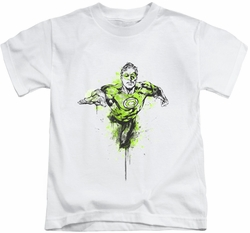 Green Lantern kids t-shirt Inked white