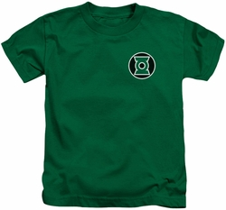 Green Lantern kids t-shirt Kyle Rayner Logo kelly green