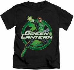 Green Lantern kids t-shirt Lantern Glow black