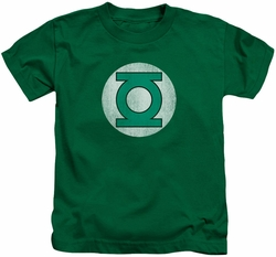 Green Lantern kids t-shirt Logo Distressed kelly green