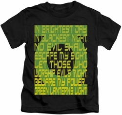Green Lantern kids t-shirt Oath black