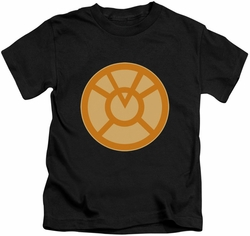 Green Lantern kids t-shirt Orange Symbol black
