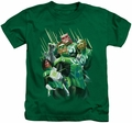 Green Lantern kids t-shirt Power Of The Rings kelly green