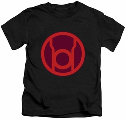 Green Lantern kids t-shirt Red Symbol black