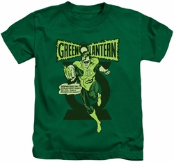Green Lantern kids t-shirt Retro Oath kelly green