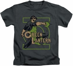 Green Lantern kids t-shirt Ring Power charcoal