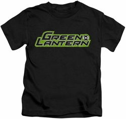 Green Lantern kids t-shirt Scribble Title black