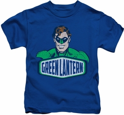 Green Lantern kids t-shirt Sign royal