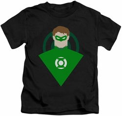 Green Lantern kids t-shirt Simple black