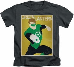 Green Lantern kids t-shirt Simple Poster charcoal